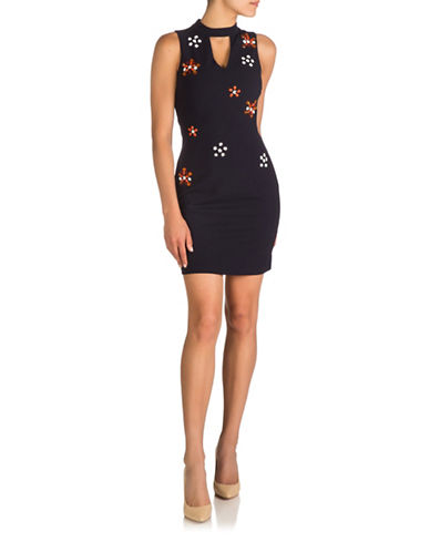 Guess Embellished Sheath Dress-NAVY-6