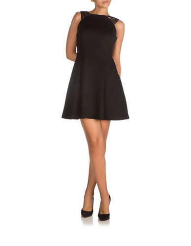Guess Multi Strap Scuba Dress-BLACK-4