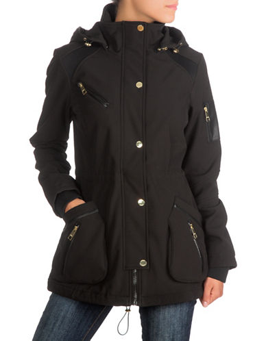 Guess Softshell Anorak Jacket-BLACK-Large