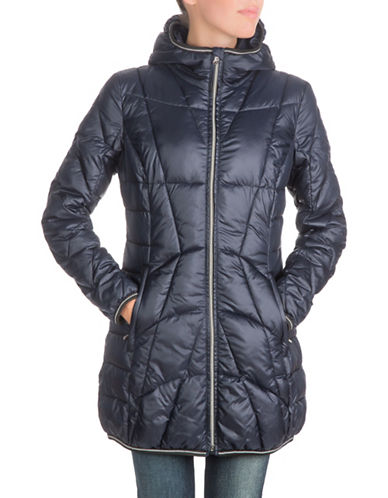 Guess Packable Hooded Jacket-BLUE-X-Large 88469090_BLUE_X-Large