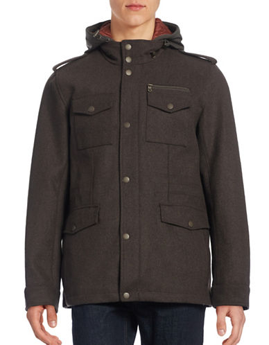 Tommy Hilfiger Water-Resistant Military Jacket-BROWN-Large 88427179_BROWN_Large