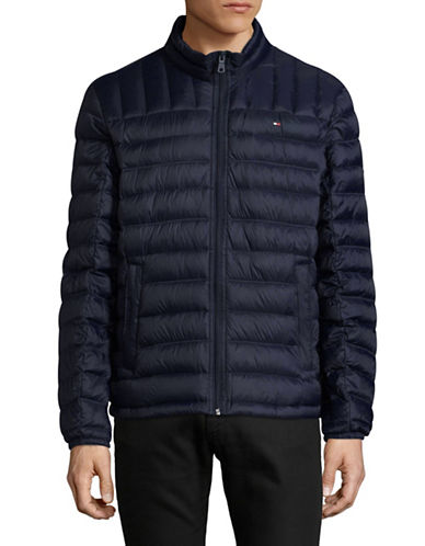 Tommy Hilfiger Down Filled Packable Coat-BLUE-X-Large