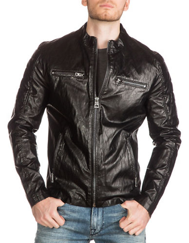 Guess Faux Leather Moto Jacket-BLACK-Medium 88890612_BLACK_Medium
