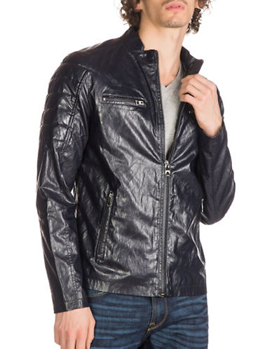 Guess Faux Leather Moto Jacket-BLUE-Large 88890618_BLUE_Large