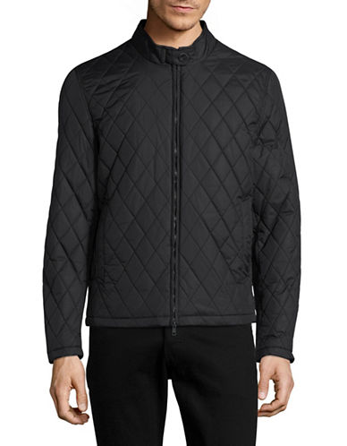 Vince Camuto Quilted Fill Jacket-BLACK-Large