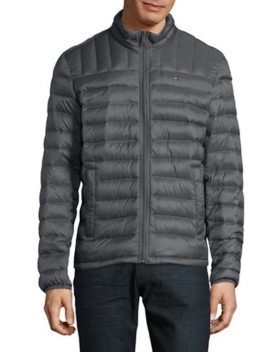 Tommy Hilfiger Down Filled Packable Coat-CHARCOAL-XX-Large