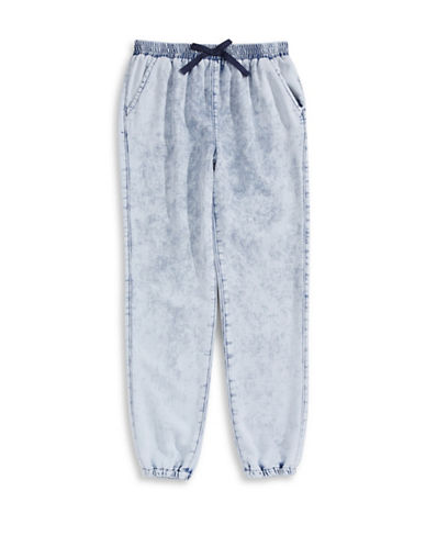 Material Girl Terry Denim-Style Jogger Pants-BLUE-Small 87607280_BLUE_Small