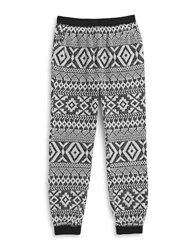 Material Girl Jacquard Knit Jogger Pants-GREY-Medium 88522382_GREY_Medium