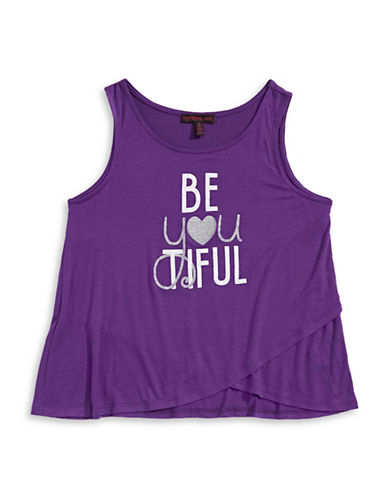 Material Girl Be-You-Tiful Tank Top-BERRY-Large
