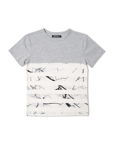 Elwood Colourblock Football Tee-GREY-Medium 88677736_GREY_Medium