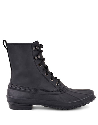 Ugg Leather Lace-Up Boots-BLACK-10