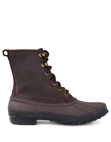 Ugg Leather Lace-Up Boots-STOUT-9