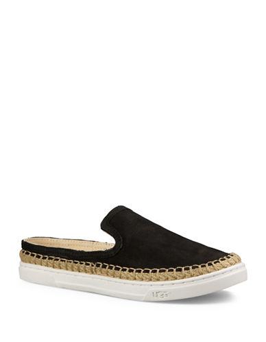 Ugg Caleel Nubuck Leather Espadrille Sandals-BLACK-6