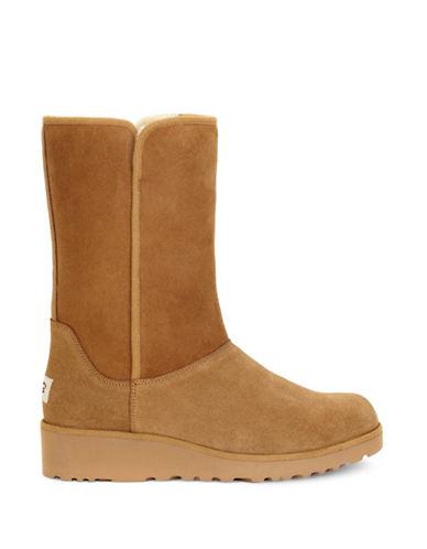 Ugg Amie Classic Slim Short Boots-CHESTNUT-7