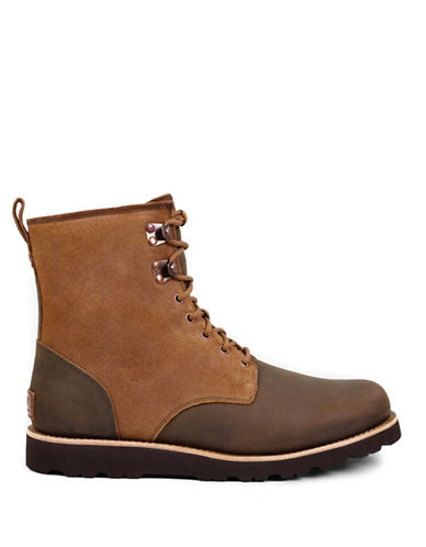 Ugg Hannen Waterproof Nubuck Boots-BROWN-8