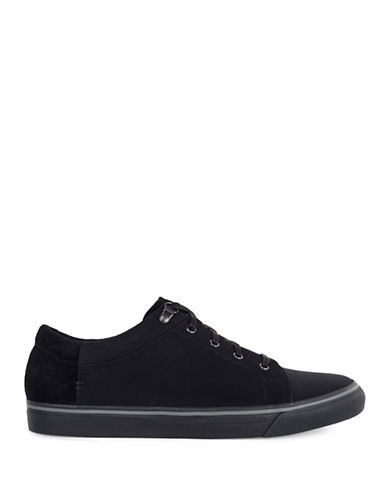 Ugg Brock Waterproof Leather Sneakers-BLACK-9