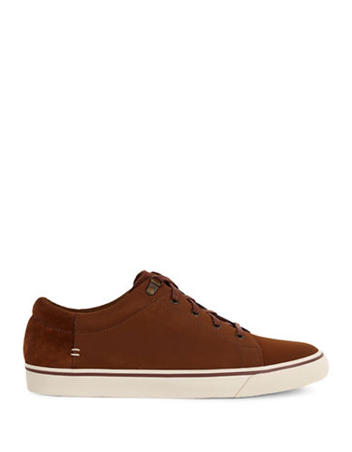 Ugg Brock Waterproof Leather Sneakers-CHESTNUT-9