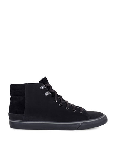 Ugg Hoyt Waterproof Leather Chukka Boots-BLACK-10