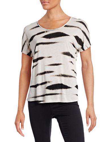 Kensie Animal Print Boxy T-Shirt-WHITE-X-Small 87307652_WHITE_X-Small