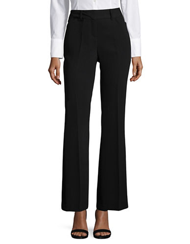 Ivanka Trump Straight Leg Crepe Pants-BLACK-8