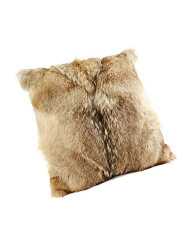 HudsonS Bay Company X Caroline Furs Coyote Fur Cushion-MILLENNIUM-One Size