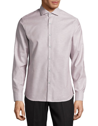 Black Brown 1826 Easy-Care Shirt-RED-Small