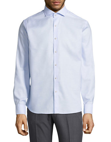 Black Brown 1826 Easy-Care Shirt-LIGHT BLUE-Small