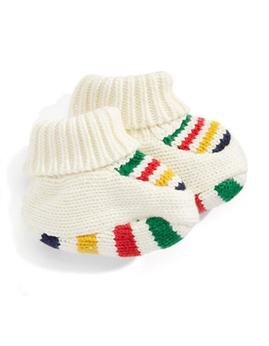 HudsonS Bay Company Baby Knit Booties-MULTI-3-6 Months