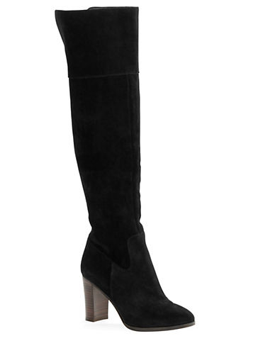 424 Fifth Mikayla Suede Over-the-Knee Boots-BLACK-9.5