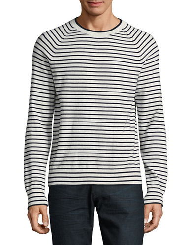 Black Brown 1826 Striped Sweater-NATURAL-Large