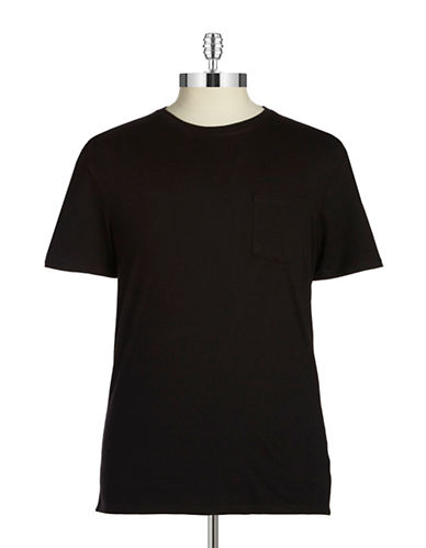 Black Brown 1826 Cotton T-Shirt-BLACK-Small