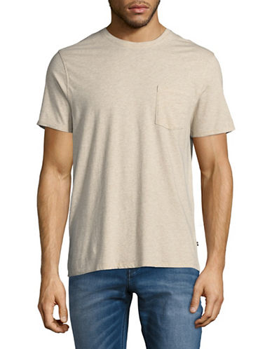 Black Brown 1826 Cotton T-Shirt-BEIGE-Large
