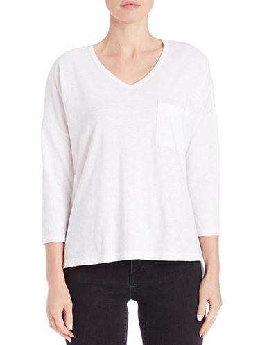 Lord & Taylor Pullover Dolman Tee-WHITE-Small