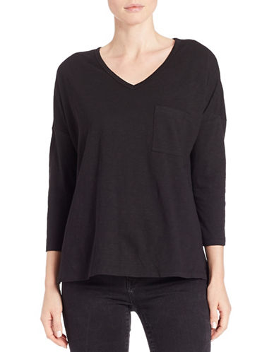 Lord & Taylor Pullover Dolman Tee-BLACK-X-Small 88014133_BLACK_X-Small