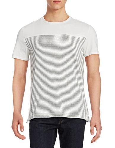 Hudson North Mariner Stripe Cotton T-Shirt-GREY-Medium 88178115_GREY_Medium