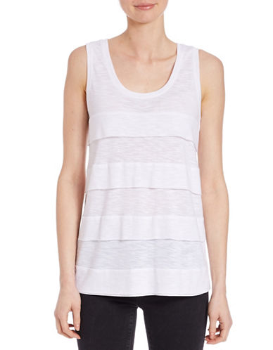 Lord & Taylor Ruffled Tier Tank Top-WHITE-X-Large 88067361_WHITE_X-Large