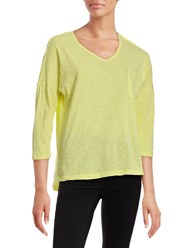Lord & Taylor Pullover Dolman Tee-YELLOW-X-Small
