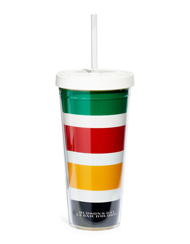 HudsonS Bay Company On-the-Go Tumbler with Straw-MULTI-One Size