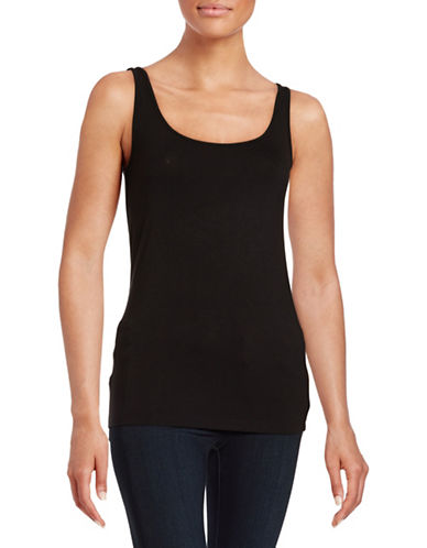 Lord & Taylor Iconic Fit Tank-BLACK-Small 88306706_BLACK_Small