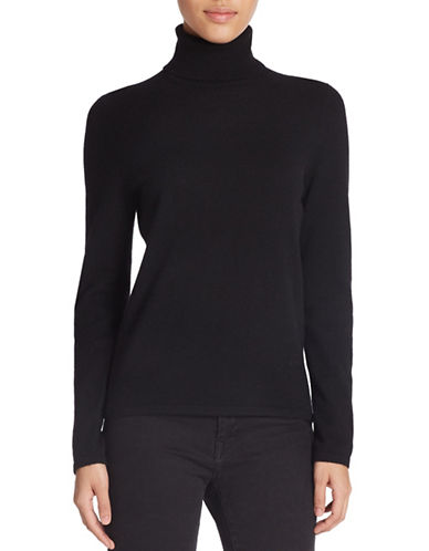 Lord & Taylor Cashmere Turtleneck Sweater-BLACK-X-Large 88406914_BLACK_X-Large