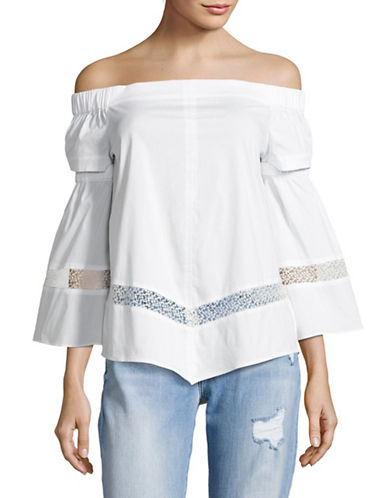 Highline Collective Off-The-Shoulder Cut-Out Top-WHITE-Medium