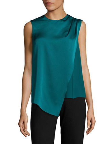 Lord & Taylor Draped Pleat Sleeveless Top-SATELLITE-Large