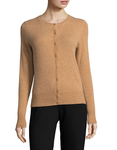 Lord & Taylor Cashmere Cardigan-CLASSIC CAMEL-Large