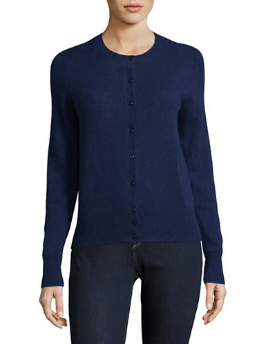 Lord & Taylor Cashmere Cardigan-NAVY-Small