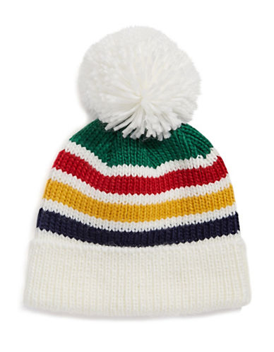 HudsonS Bay Company Multistripe Pompom Tuque-MULTI-Small/Medium
