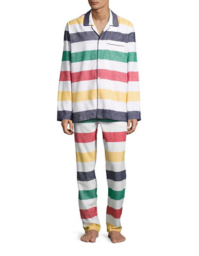 HudsonS Bay Company Flannel Pyjamas - Men-MULTI-Medium