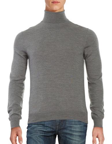 Black Brown 1826 Merino Wool Turtleneck Sweater-GREY-XXX-Large 88555906_GREY_XXX-Large