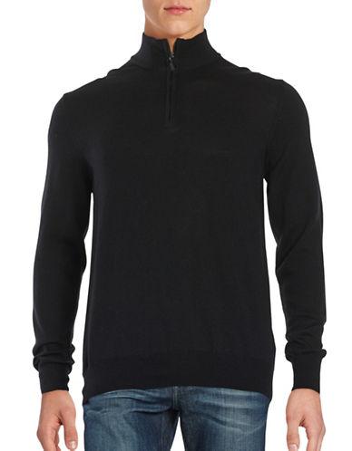 Black Brown 1826 Quarter-Zip Wool Sweater-BLACK-Small 88489990_BLACK_Small