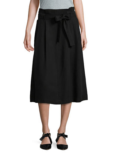 Lord & Taylor Paperbag Waist Skirt-BLACK-10