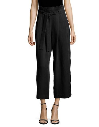 Lord & Taylor Paperbag Waist Trousers-BLACK-14